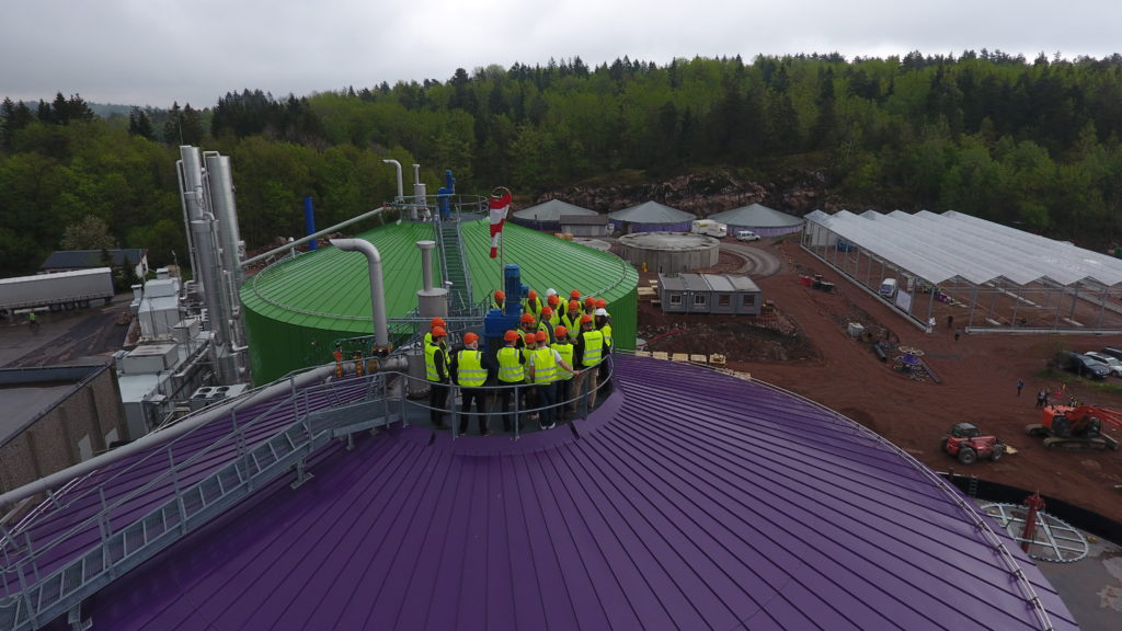 "On the rof At ""The Magic Factory"", the biogas plant in Tønsberg"